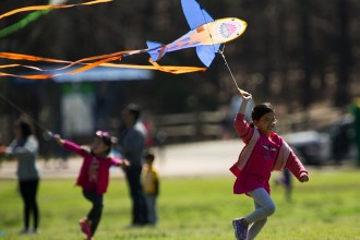 at the Cary Annual Kite Festival at Fred G. Bond Metro Park.