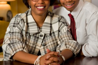 Mary Williams-Stover and son Darius, both volunteers for Volunteer Caregiving
