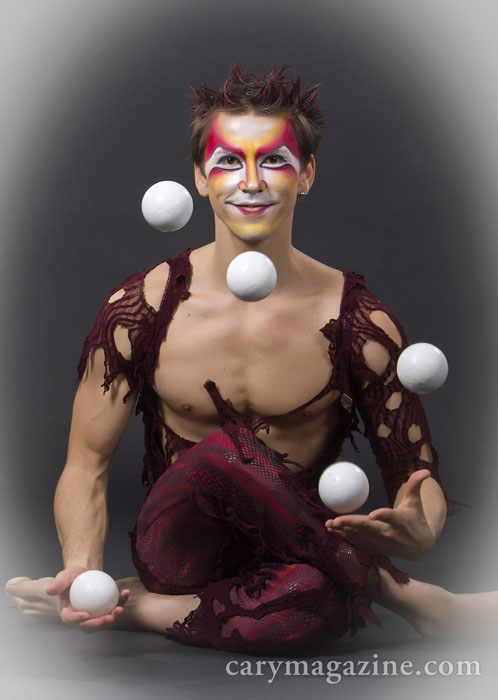 Vladik Myagkostupov, a 28-year-old Ukranian-American juggling virtuoso, is performed Cirque du Soleil's  show Dralion  at the PNC Arena in Raleigh.