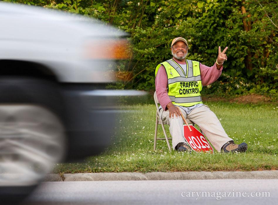 Northwoods Elementary School crossing guard James