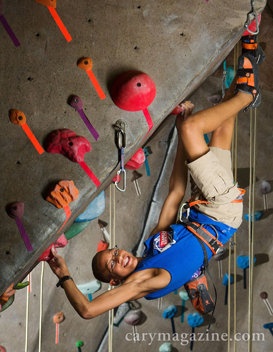 Climbing champion Kai Lightner.