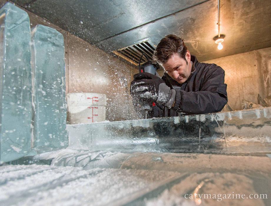 Tony Winslow of AMD Ice Sculptures