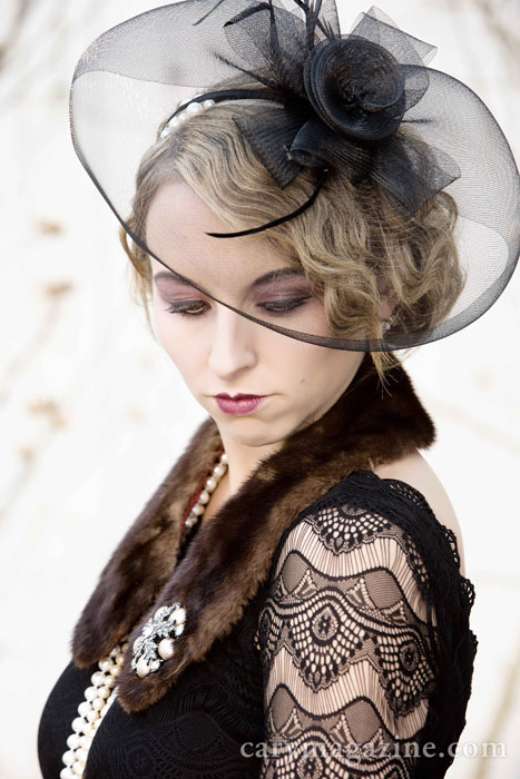 Stephanie Riley, Vintage Revival fashion shoot, 2013.
