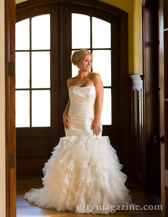 Greta Handley models for Wedding Whites story, 2012  https://www.carymagazine.com/features/wedding-whites