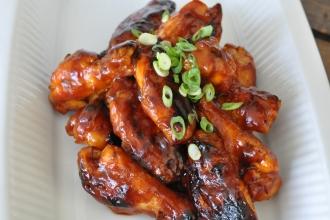 Spiced Apple Glazed Chicken Wings