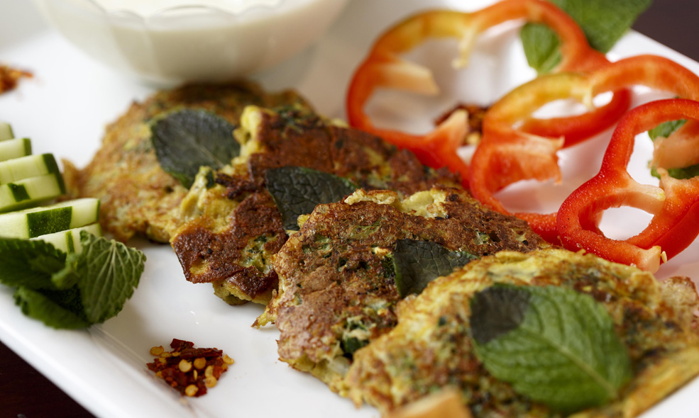 Ojjeh, a zucchini omelet, is an easy dish that is perfect for serving to a crowd, says Simone Saleh.