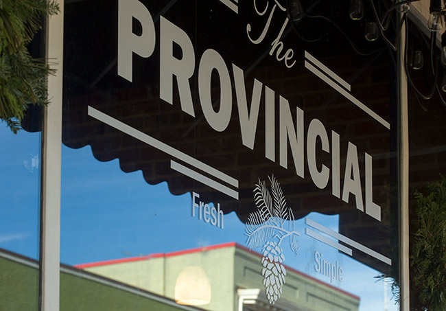 The Provincial has a prime location in a downtown building that's more than a hundred years old.