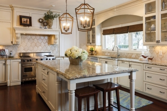 The Cooling family of Cary sought to refresh rather than renovate their kitchen, with help from Vicky Serany of Southern Studio Interiors in Apex. Easier and less expensive than a full overhaul, they made thoughtful updates to the cabinets, island and color scheme that will allow long-term flexibility as life, and tastes, evolve. Read on for the details, plus tips on when — and how — to refresh your own home.