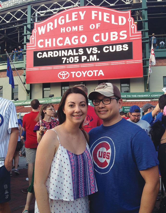 Nicole and Sal Zarate used credit card reward points to buy round-trip flights to Chicago for just $12 each, thanks to guidance from Cary-based company RewardStock.