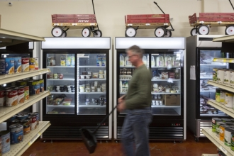 At Western Wake Crisis Ministry in Apex, commercial grade freezers and refrigerators house donated milk, eggs, meats and other perishable goods, to help those in need.