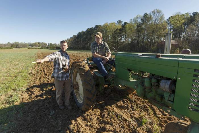 Thomas Saile, left, and David Barbee are among the first farmers to sign up for plots at Good Hope Farm.