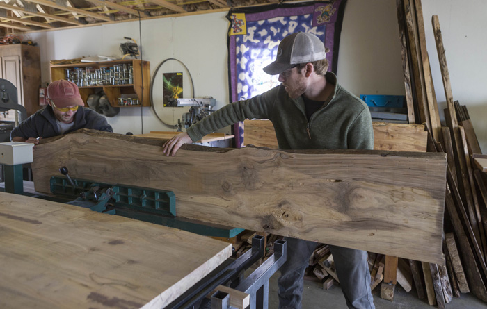 Quinn Ferebee and Doug Boytos co-owners of Live Edge Wood Designs