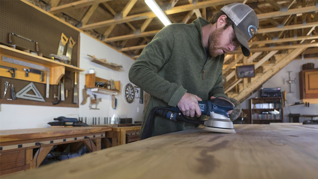 """Doug Boytos of Live Edge Wood Designs grew up in Cary and learned woodworking at Green Hope High School. Whenever someone would ask him what he wanted to do, he'd jokingly say, """"It would be awesome if I could do woodworking, and just build furniture."""""""