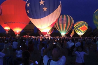 Hot air balloons at the WRAL Freedom Balloon Fest in Fuquay-Varina.
