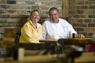 Missy and Lionel Vatinet, owners of La Farm Bakery in Cary.