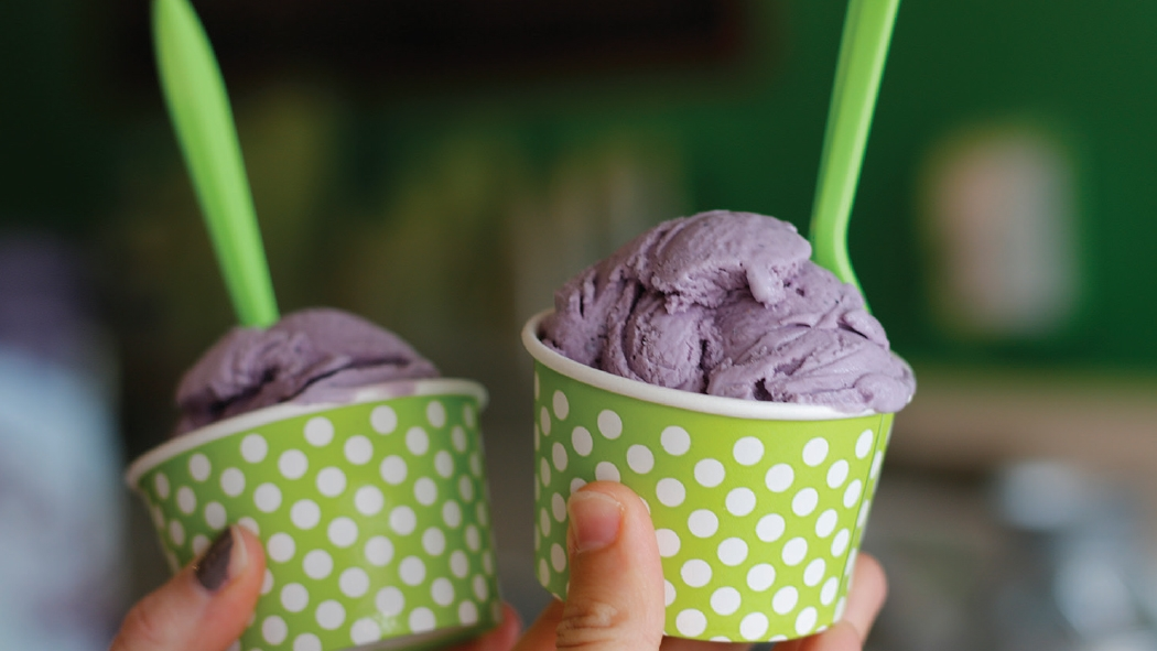Blueberry ice cream from Fresh Local Ice Cream