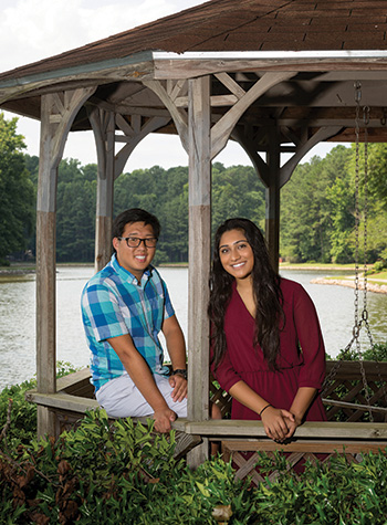 """Reese Geyer and Riya Thomas, who set up a nonprofit to fight human trafficking in Nepal, have been friends since middle school. """"We're pretty much like siblings by this point,"""" Riya says."""