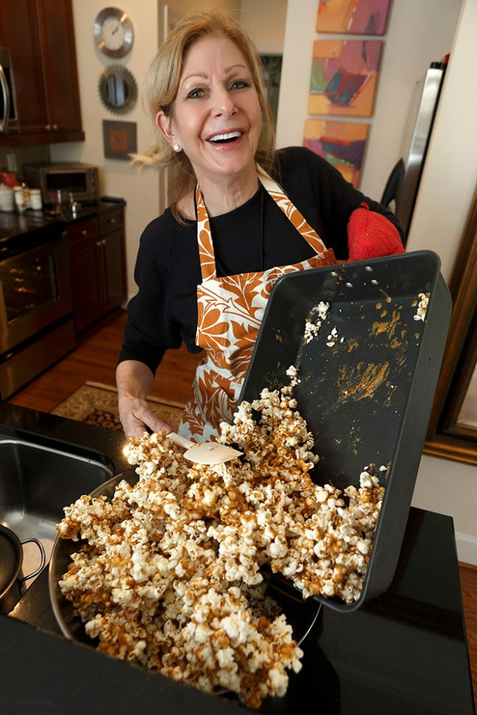 "Barbara Mooty Vinson starts making caramel corn in October, handing out little bags to trick-or-treaters. By the time the corn-making slows in mid-December, she will have gone through nearly 25 pounds of popcorn. ""This is a labor of love,"" she says."