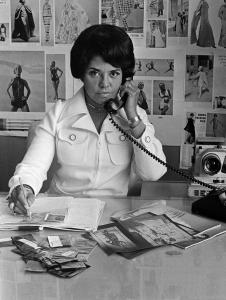 Eunice Johnson at work, 1970, photo courtesy of Johnson Publishing Company LLC.