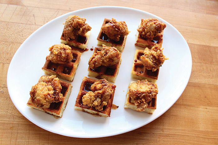 Fried-Chicken-and-Waffle-Bites-with-Maple