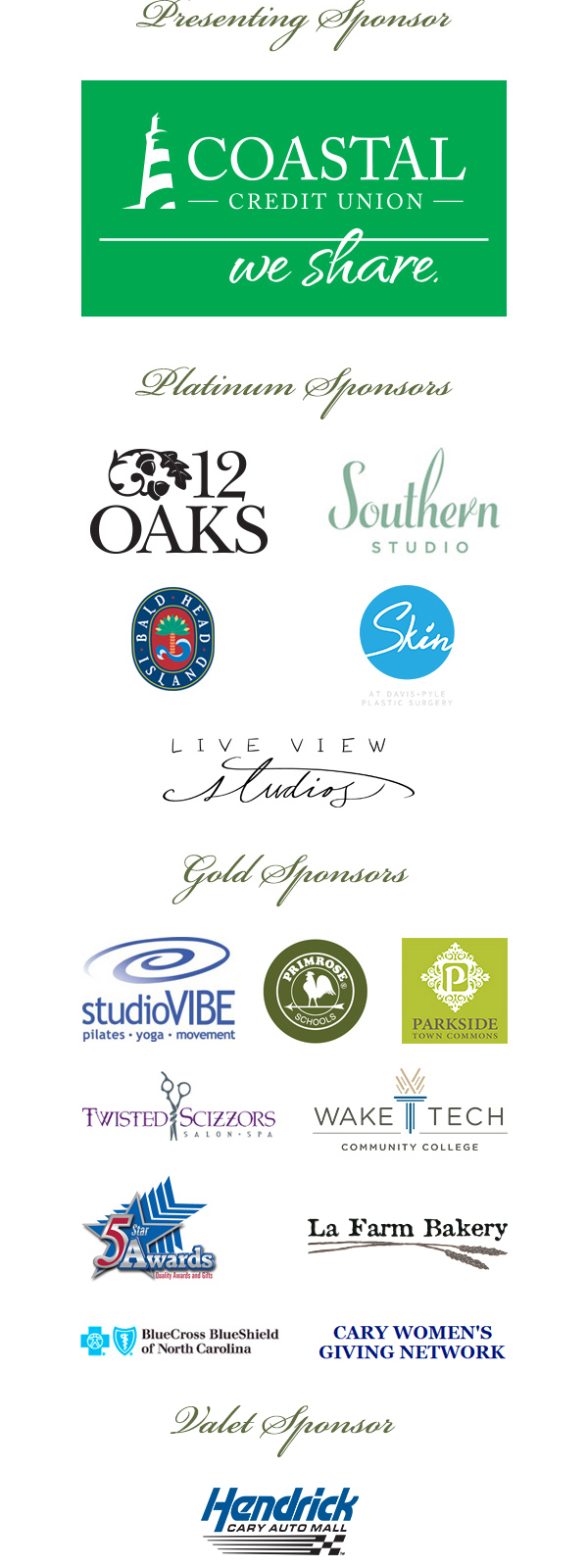 2017 Women of Western Wake Luncheon Sponsors