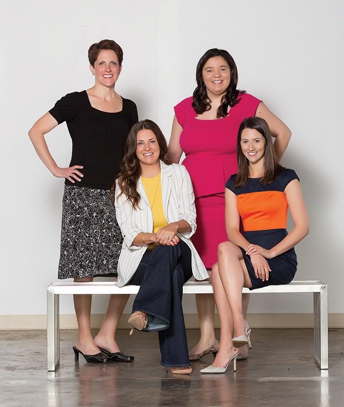 BACK ROW: Barbara Conroy, Sarah Morgan; FRONT ROW: Meghan Roy, Jessica Mitsch