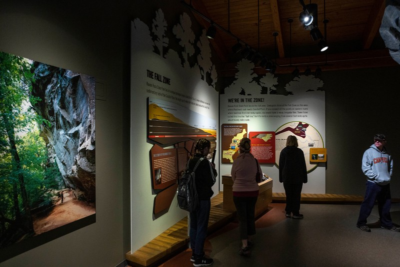Park rangers lead interpretive programs in the visitor center that provide insight into the Cape Fear region's cultural and natural history.