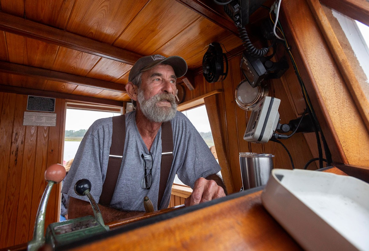 Dean Dosher spent four years crafting his wooden fishing boat, the