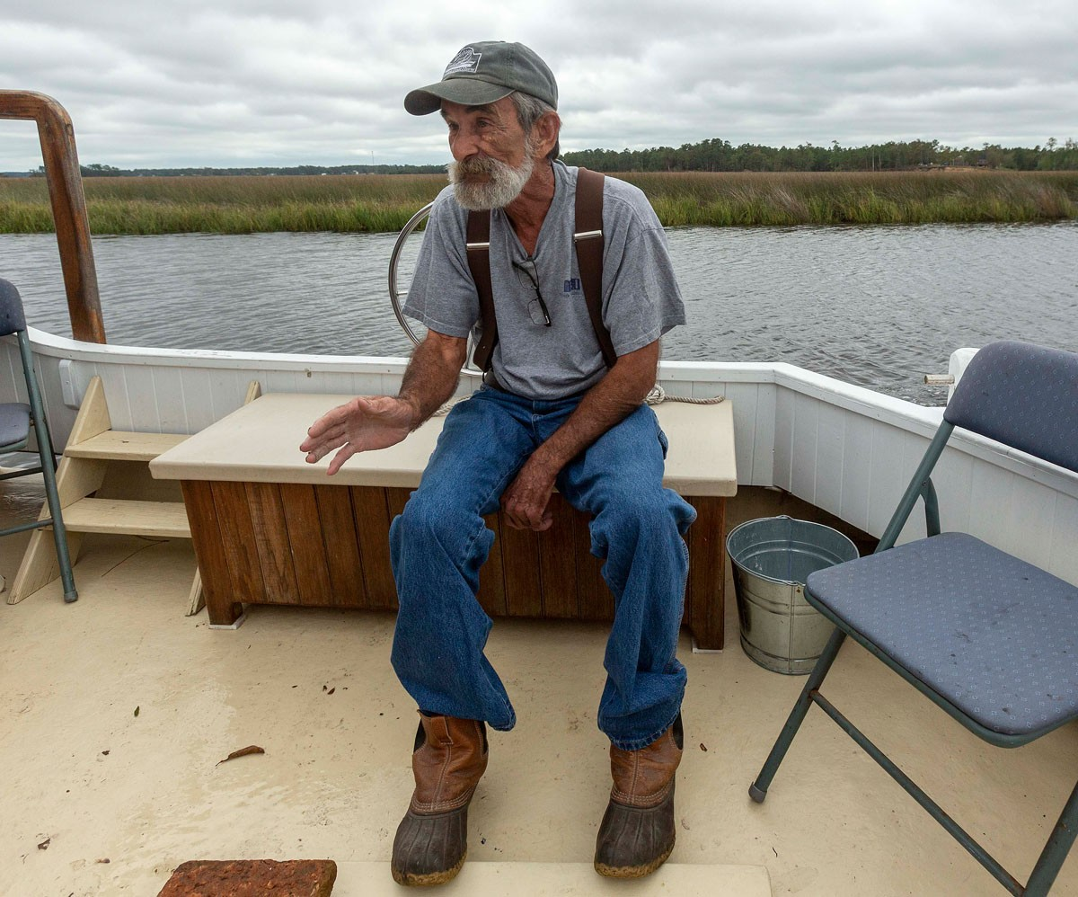On an excursion on the Lockwood Folly River in Brunswick County, Dean Dosher talks about the history of the area and growing up on the water.