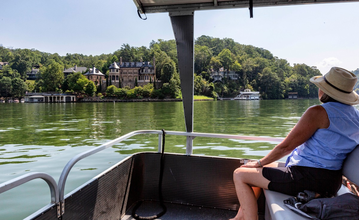 Lake Lure's 21 miles of secluded shoreline is home to more than 1,500 private houses, many of which are vacation rentals.