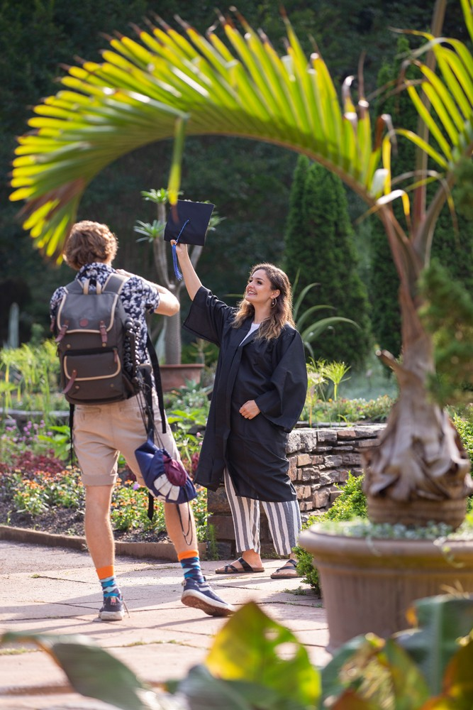 The beauty and proximity of the gardens to campus and Duke Chapel make them a popular place for graduation and wedding photo shoots.
